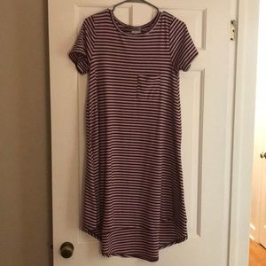 LulaRoe Red White and Blue Pleaded stripped Carley
